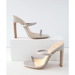 Lulus | Mimi Blue Grey Heeled Sandals